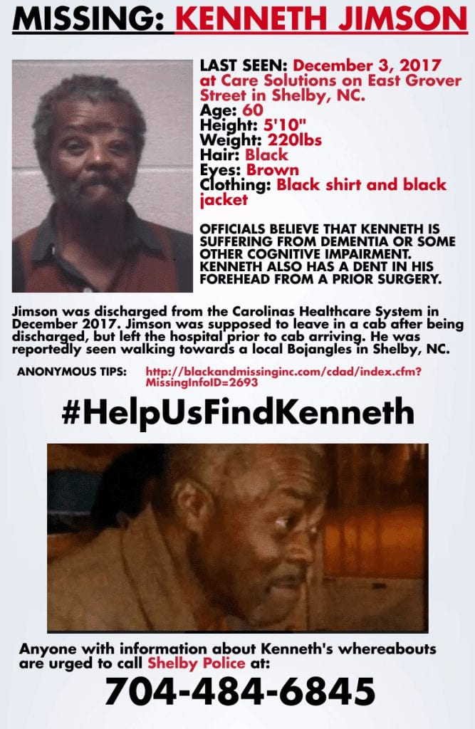 The family of 63 year-old Kenneth Wayne Jimson is still waiting for answers in his mysterious disappearance from Shelby, North Carolina almost two years ago.