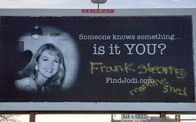Vandals Write Cryptic Message on Billboard of Missing News Anchor Jodi Huisentruit