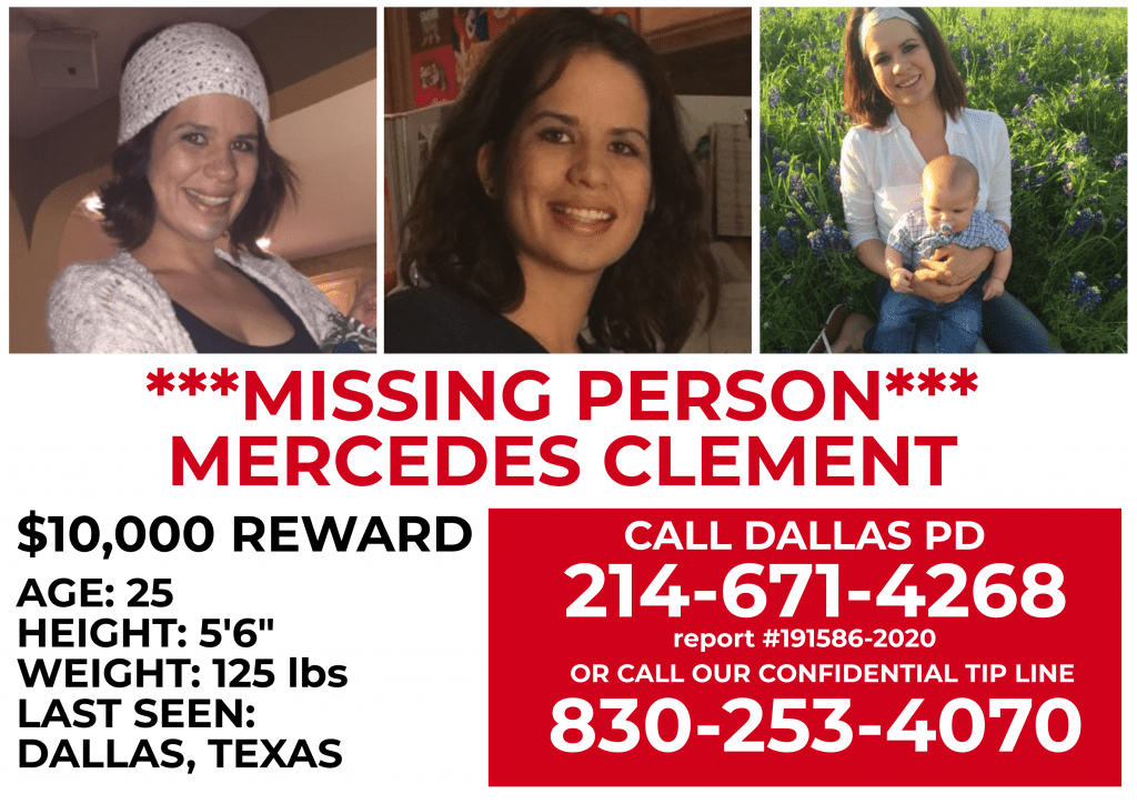 Missing person Mercedes Clement